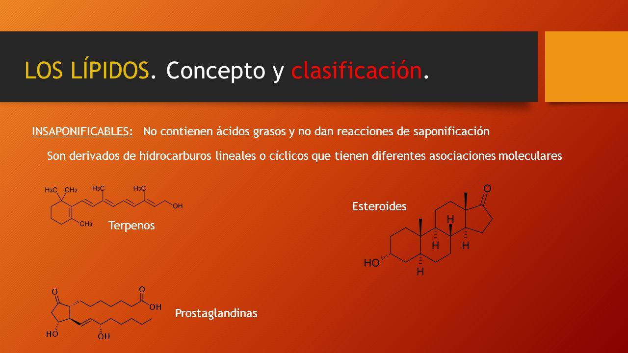 LOS LÍPIDOS. Concepto y clasificación.