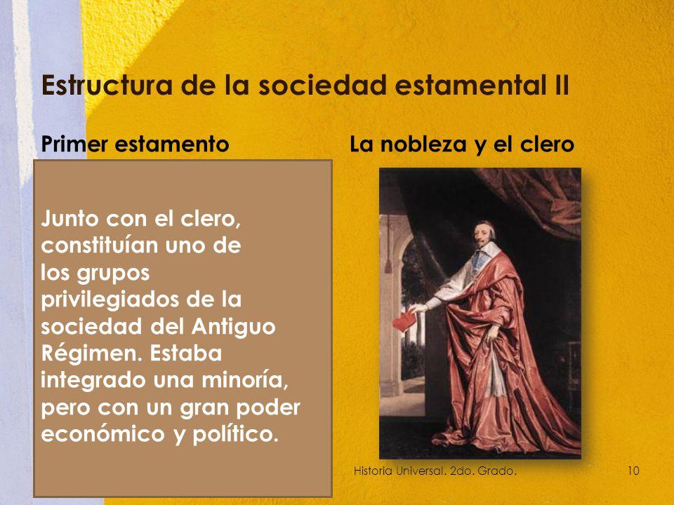 Estructura de la sociedad estamental II