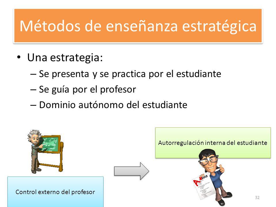 Métodos de enseñanza estratégica