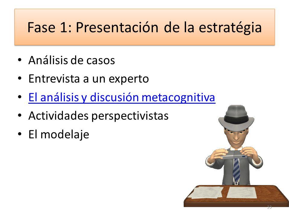 Fase 1: Presentación de la estratégia