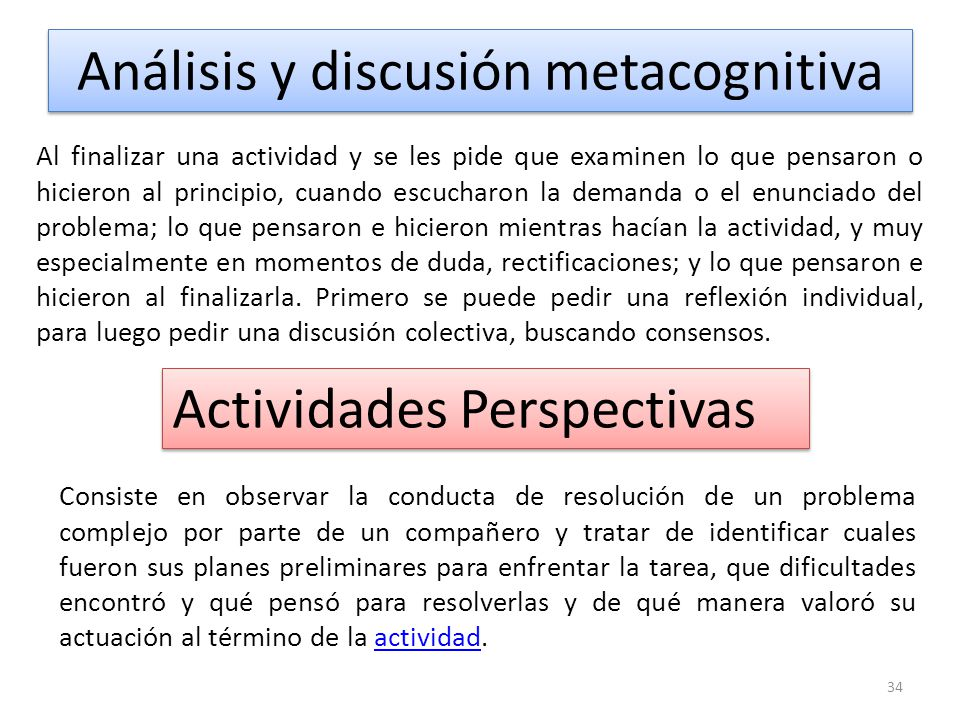 Análisis y discusión metacognitiva