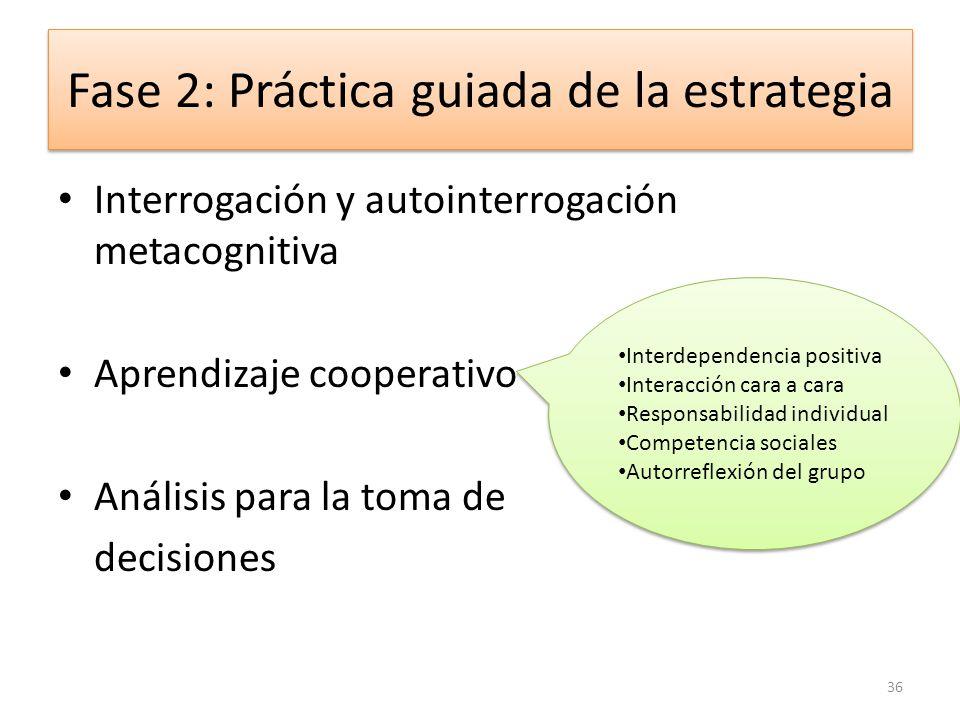 Fase 2: Práctica guiada de la estrategia