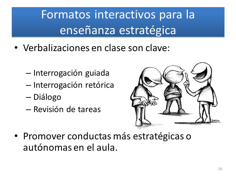 Formatos interactivos para la enseñanza estratégica