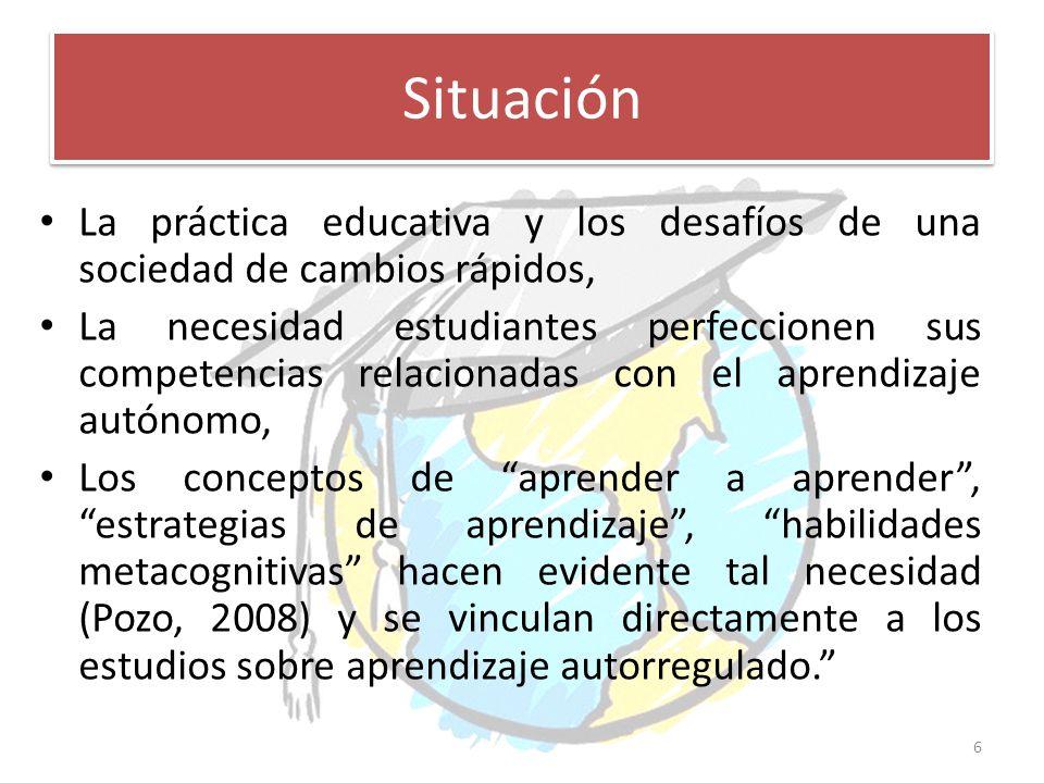 Situación La práctica educativa y los desafíos de una sociedad de cambios rápidos,