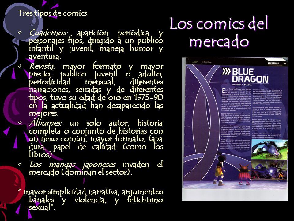 Los comics del mercado Tres tipos de comics