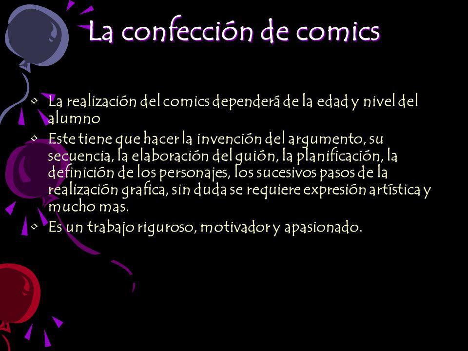 La confección de comics