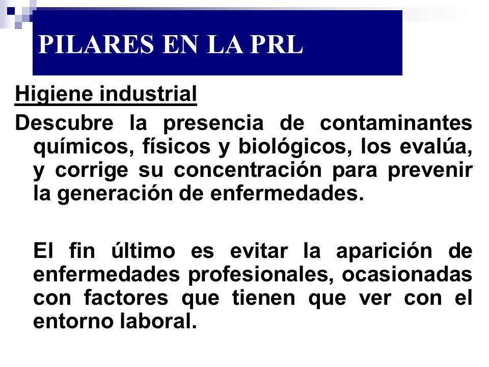 PILARES EN LA PRL Higiene industrial