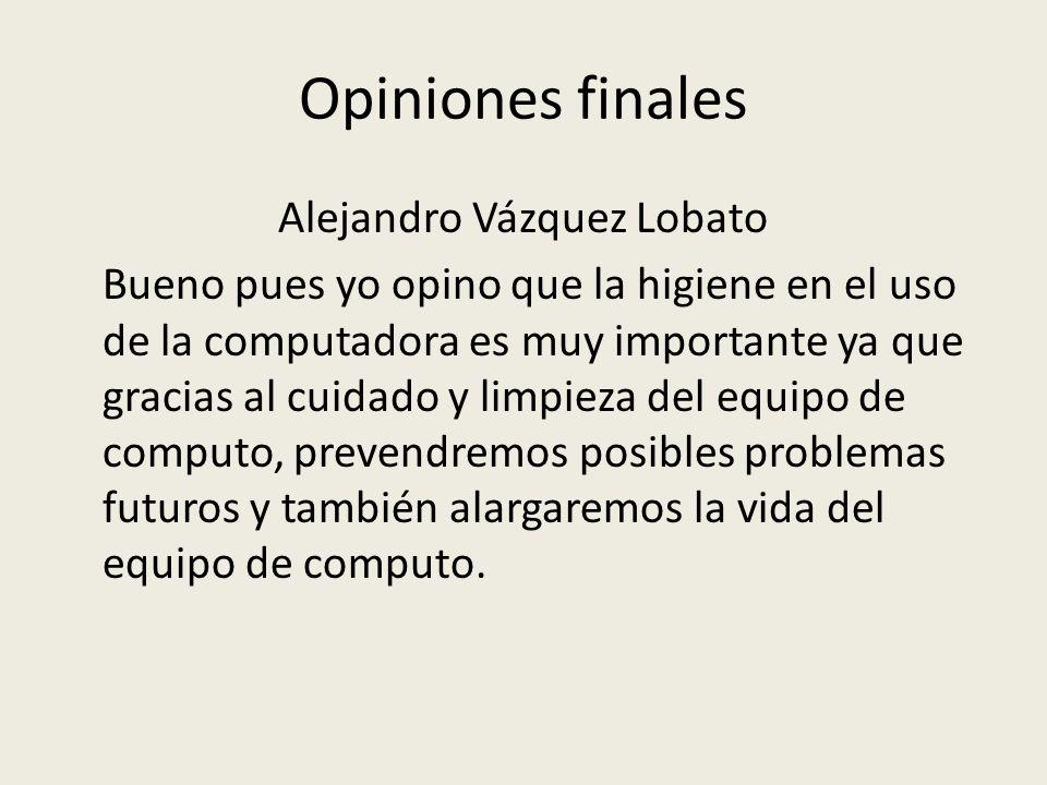 Opiniones finales