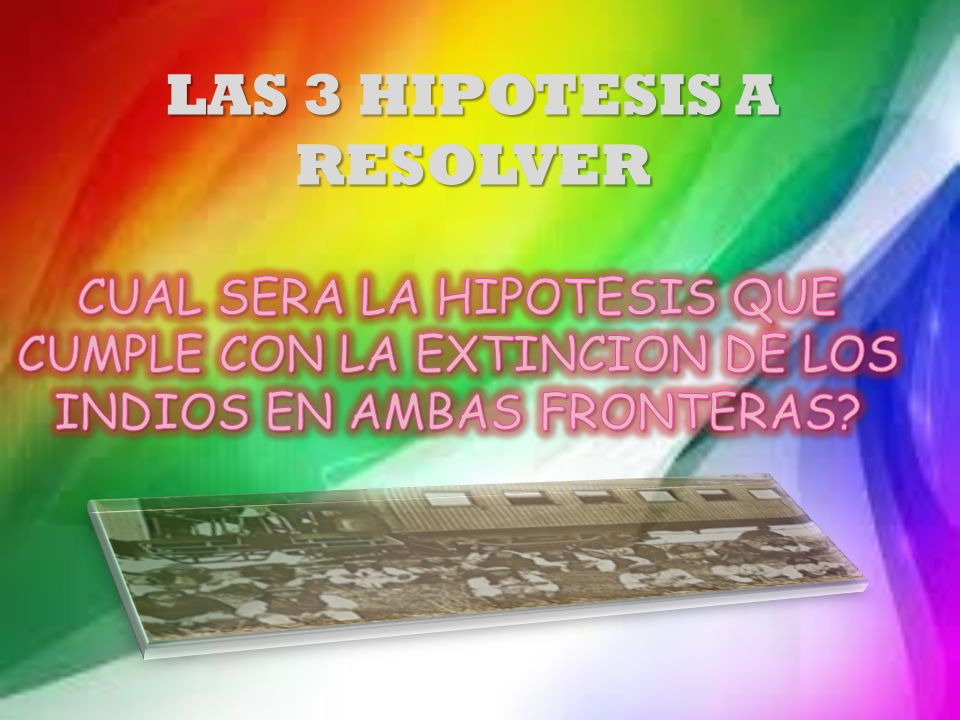 LAS 3 HIPOTESIS A RESOLVER