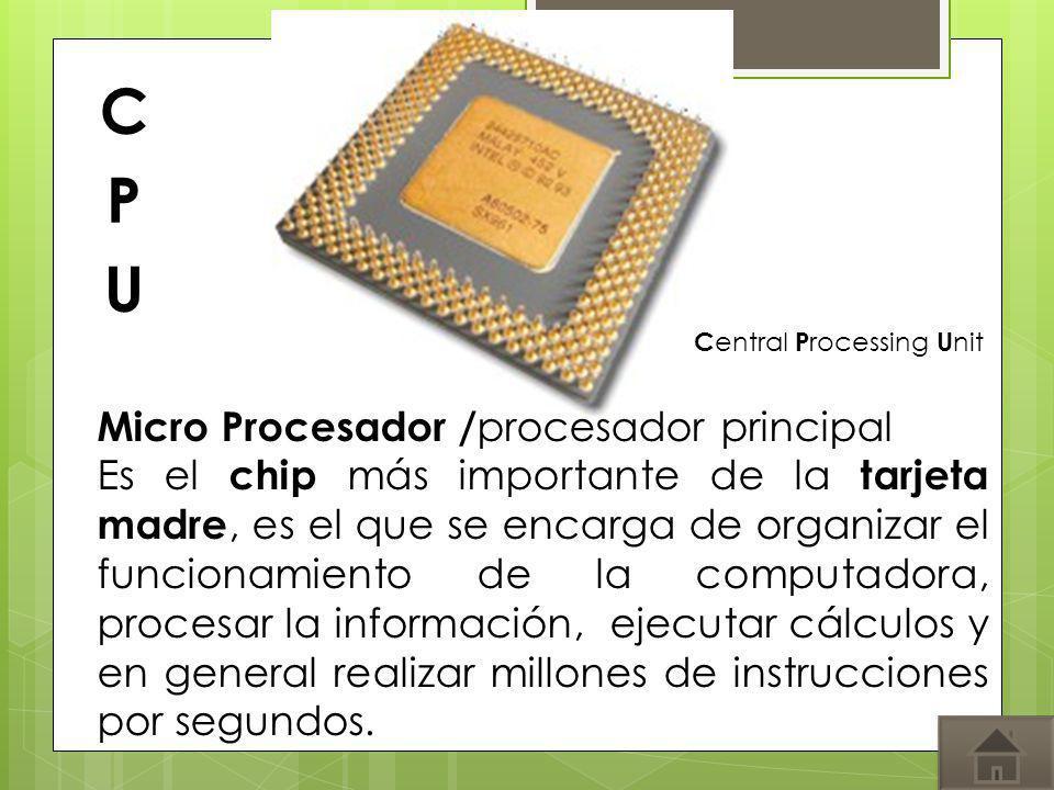 CPU Micro Procesador /procesador principal
