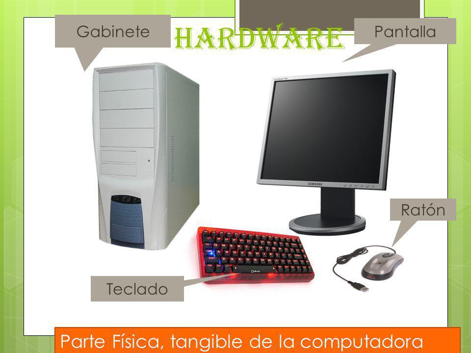 HARDWARE Parte Física, tangible de la computadora Gabinete Pantalla