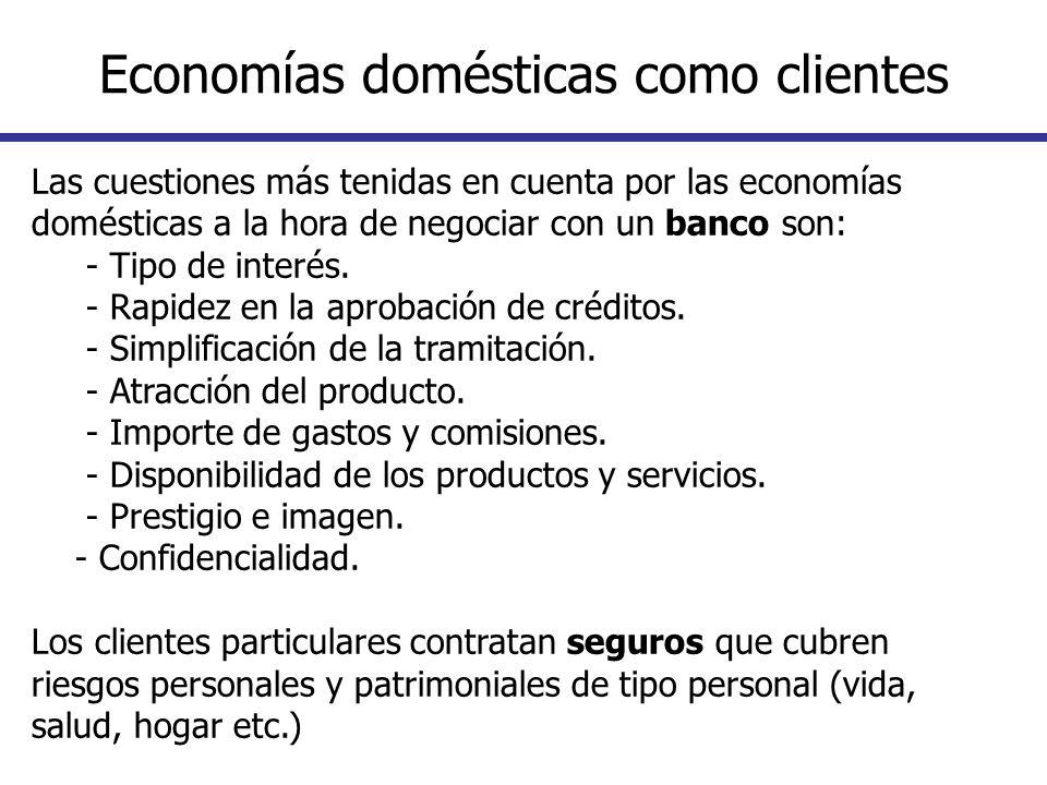 Economías domésticas como clientes