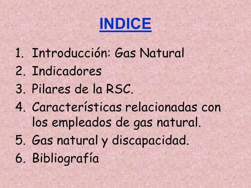 INDICE Introducción: Gas Natural Indicadores Pilares de la RSC.