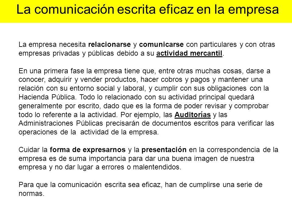 La comunicación escrita eficaz en la empresa