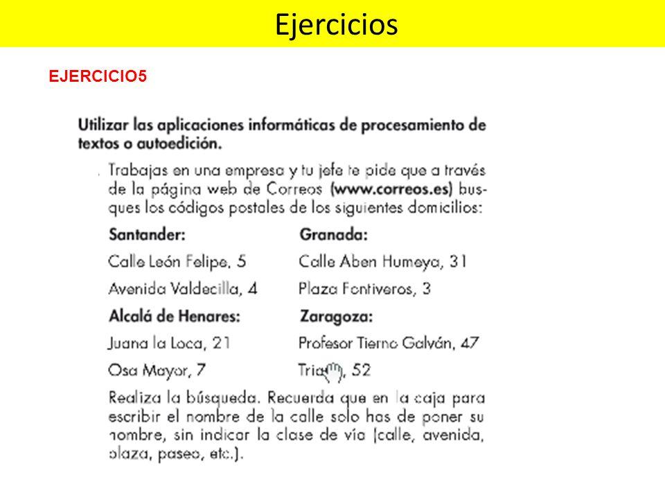 Ejercicios EJERCICIO5