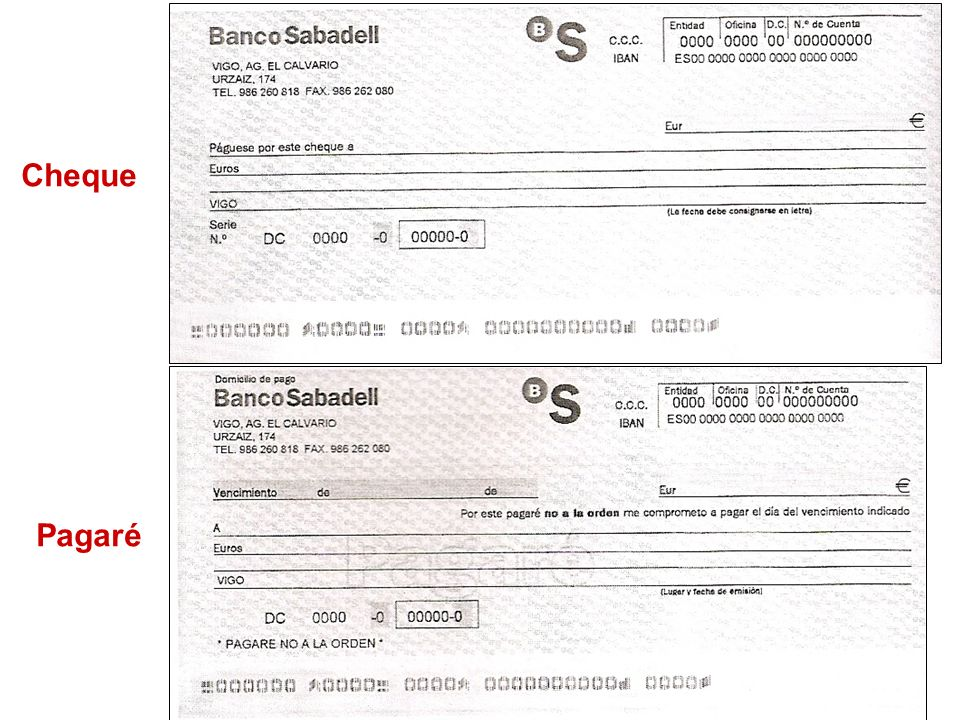 Cheque Pagaré