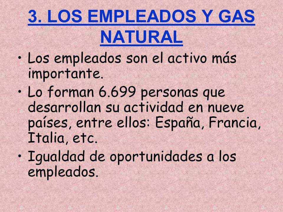 3. LOS EMPLEADOS Y GAS NATURAL