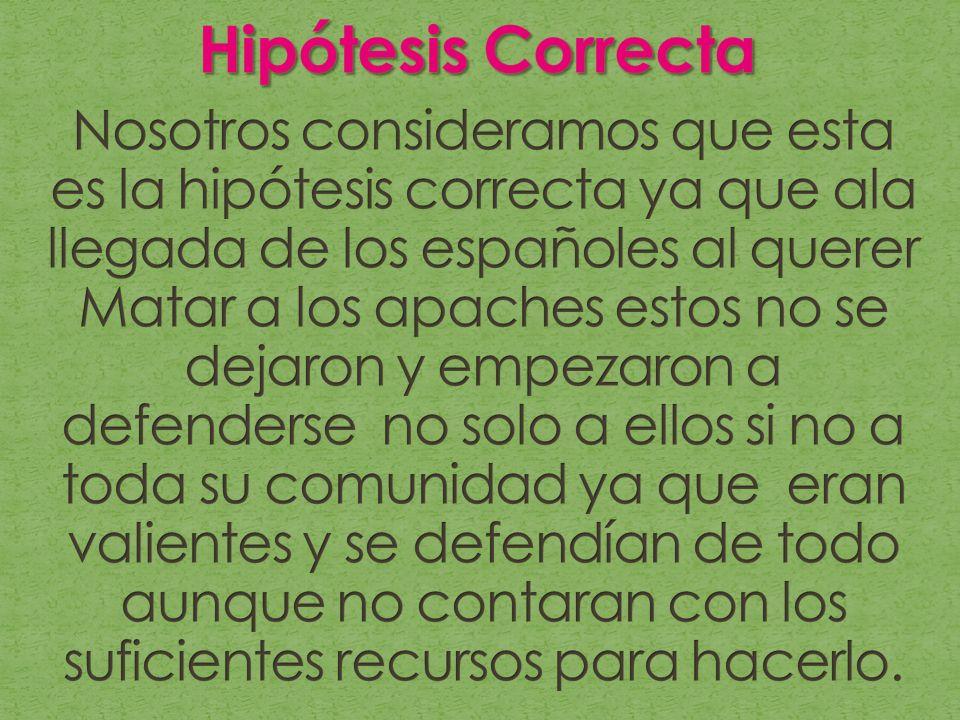 Hipótesis Correcta