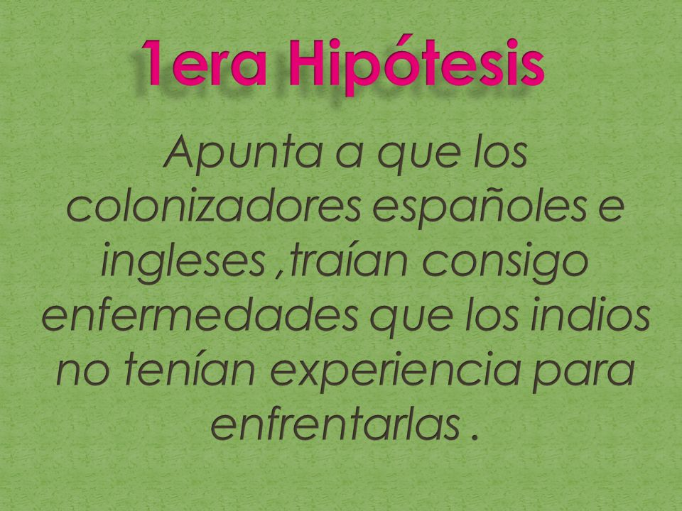 1era Hipótesis