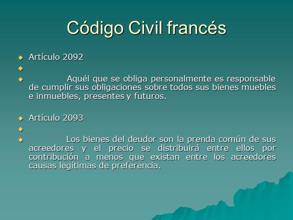 Código Civil francés Artículo 2092
