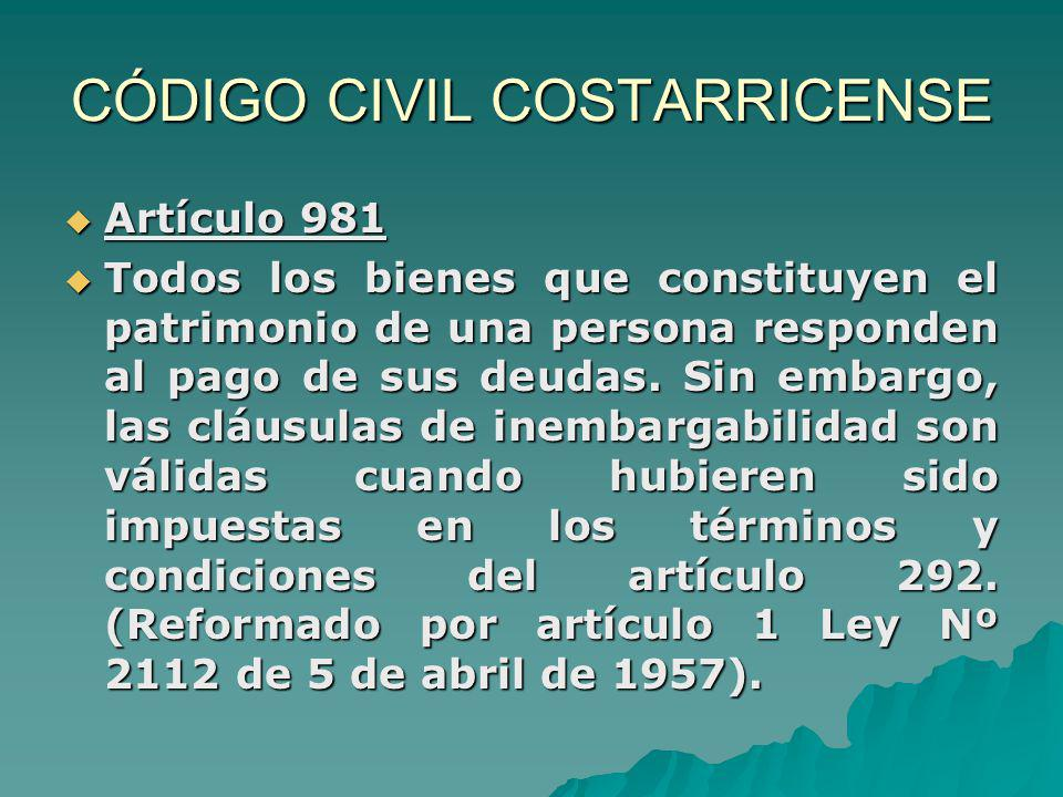 CÓDIGO CIVIL COSTARRICENSE