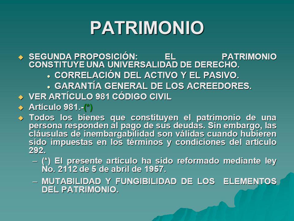 PATRIMONIO CORRELACIÓN DEL ACTIVO Y EL PASIVO.