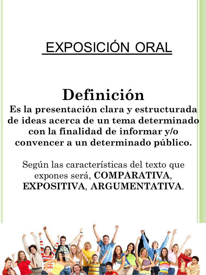 EXPOSICIÓN ORAL Definición