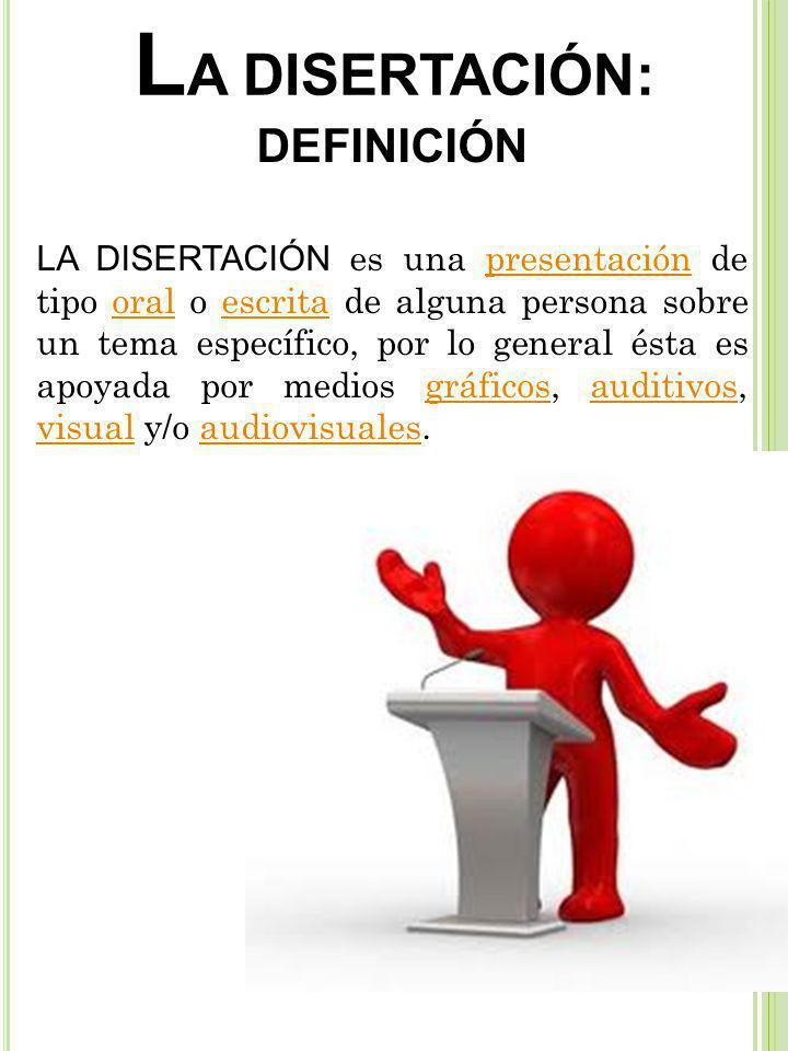 LA DISERTACIÓN: DEFINICIÓN