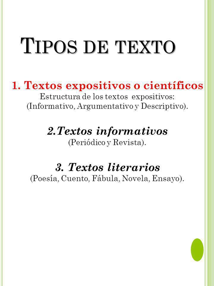 1. Textos expositivos o científicos