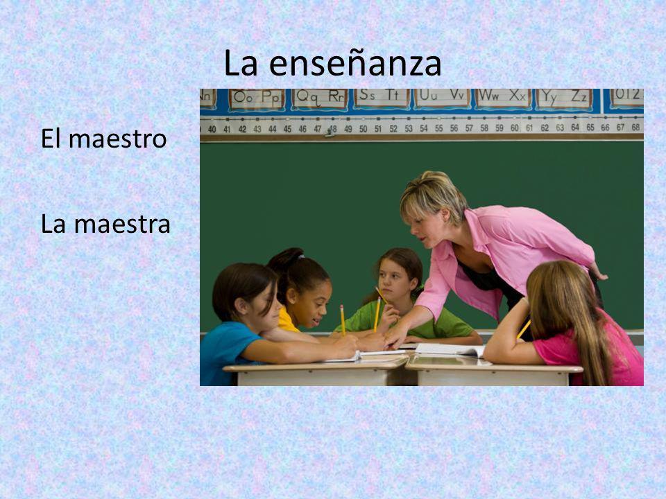 La enseñanza El maestro La maestra