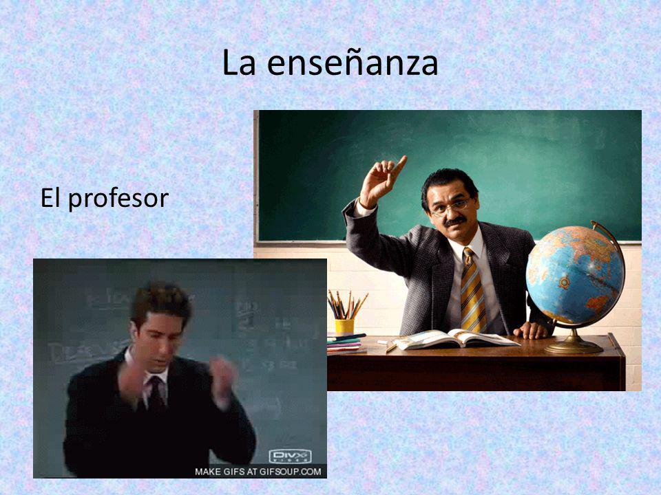 La enseñanza El profesor La profesora