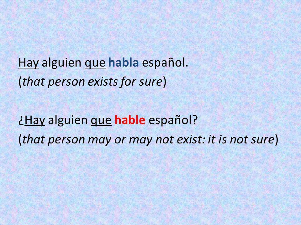 Hay alguien que habla español