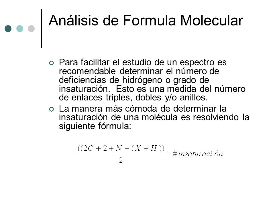 Análisis de Formula Molecular