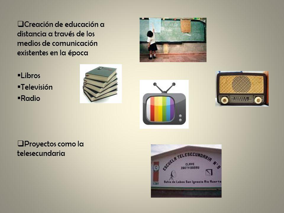 Creación de educación a distancia a través de los medios de comunicación existentes en la época