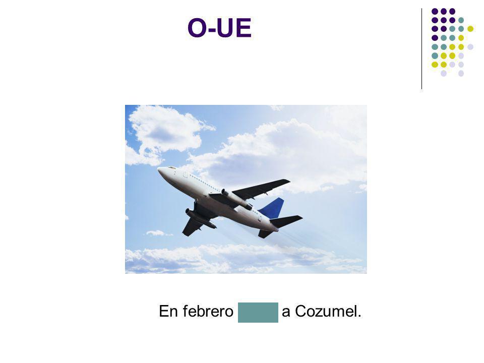 En febrero vuelo a Cozumel.