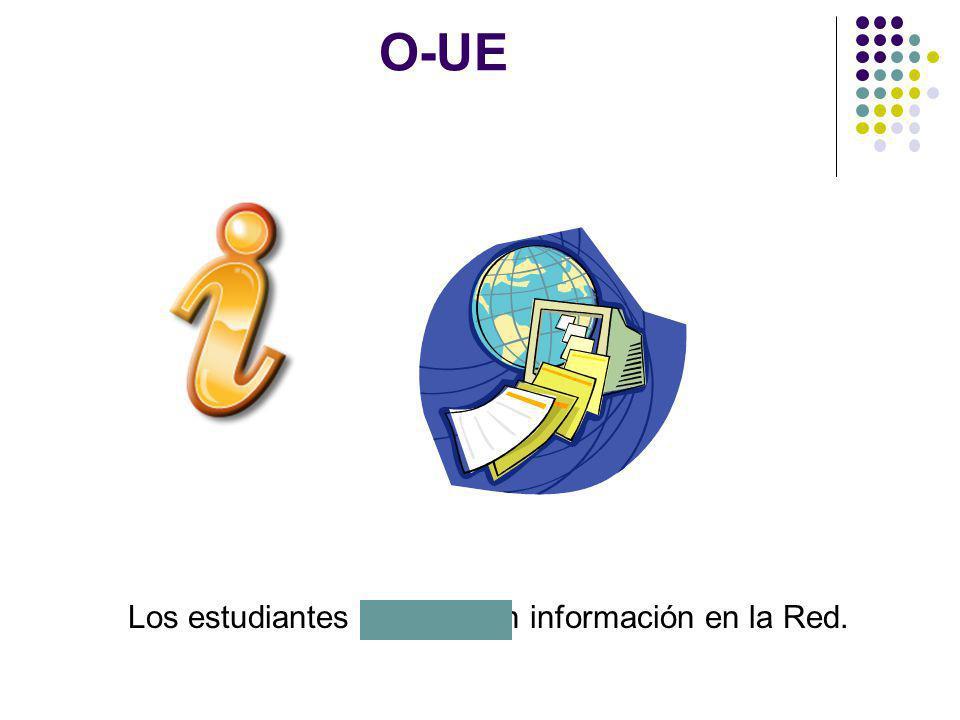 Los estudiantes encuentran información en la Red.