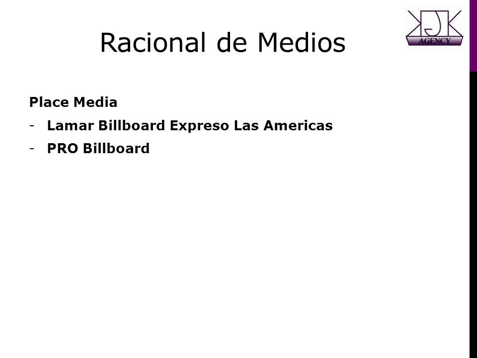 Racional de Medios Place Media Lamar Billboard Expreso Las Americas