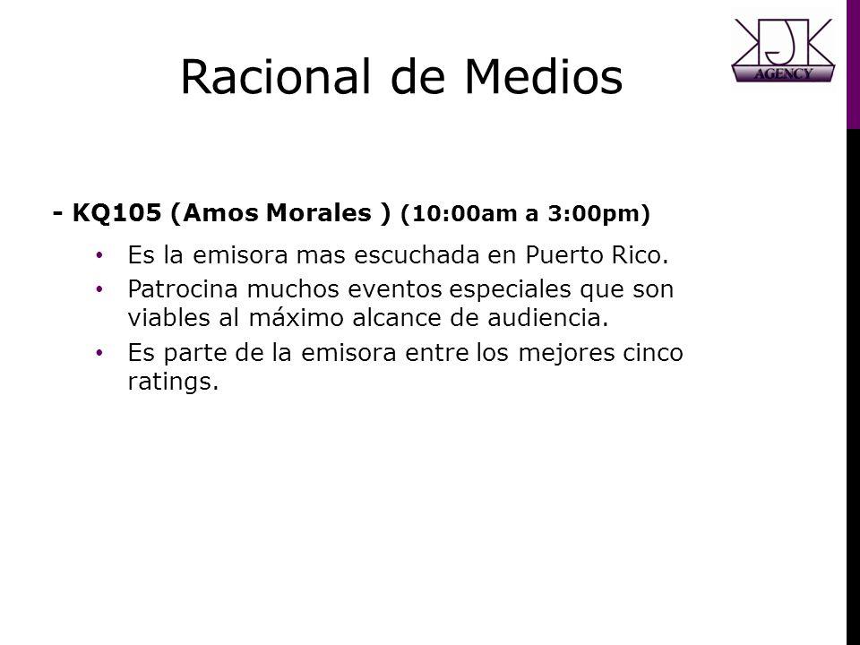 Racional de Medios - KQ105 (Amos Morales ) (10:00am a 3:00pm)