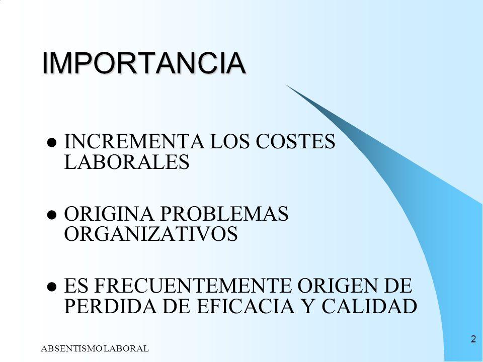 IMPORTANCIA INCREMENTA LOS COSTES LABORALES