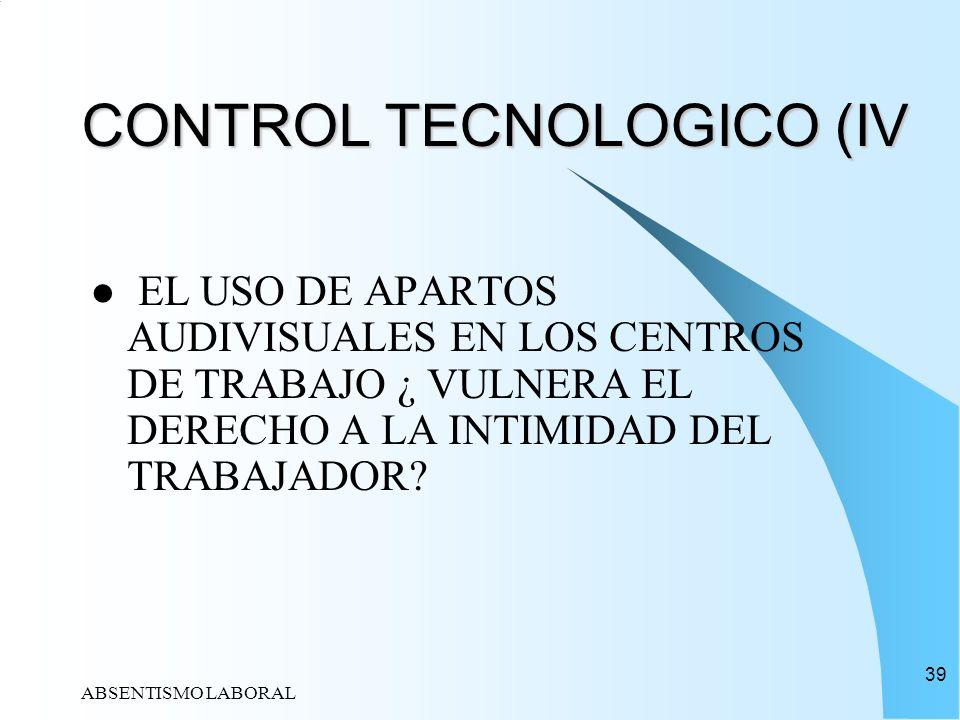 CONTROL TECNOLOGICO (IV