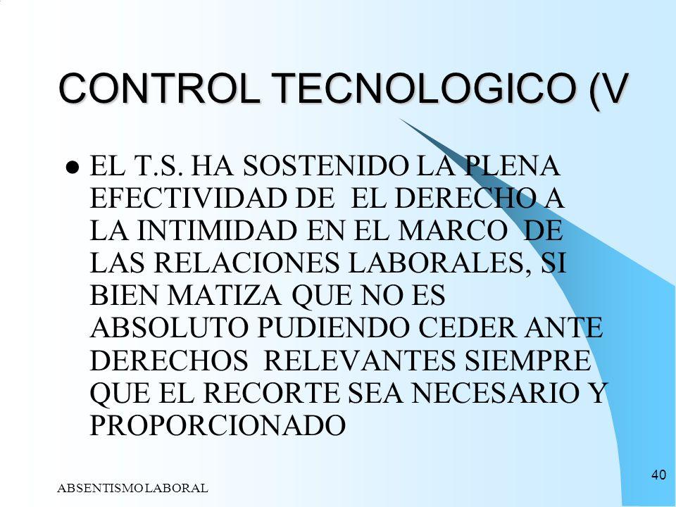 CONTROL TECNOLOGICO (V