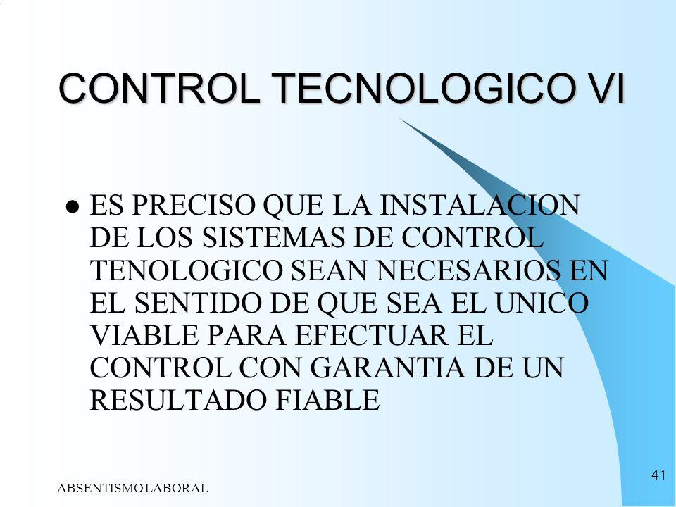 CONTROL TECNOLOGICO VI