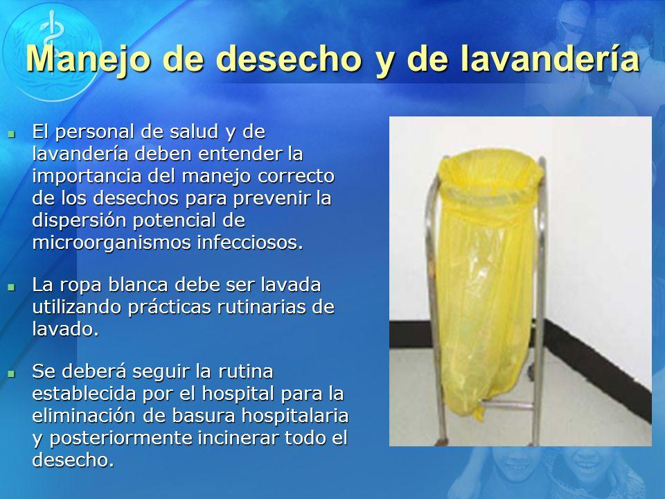 Manejo de desecho y de lavandería
