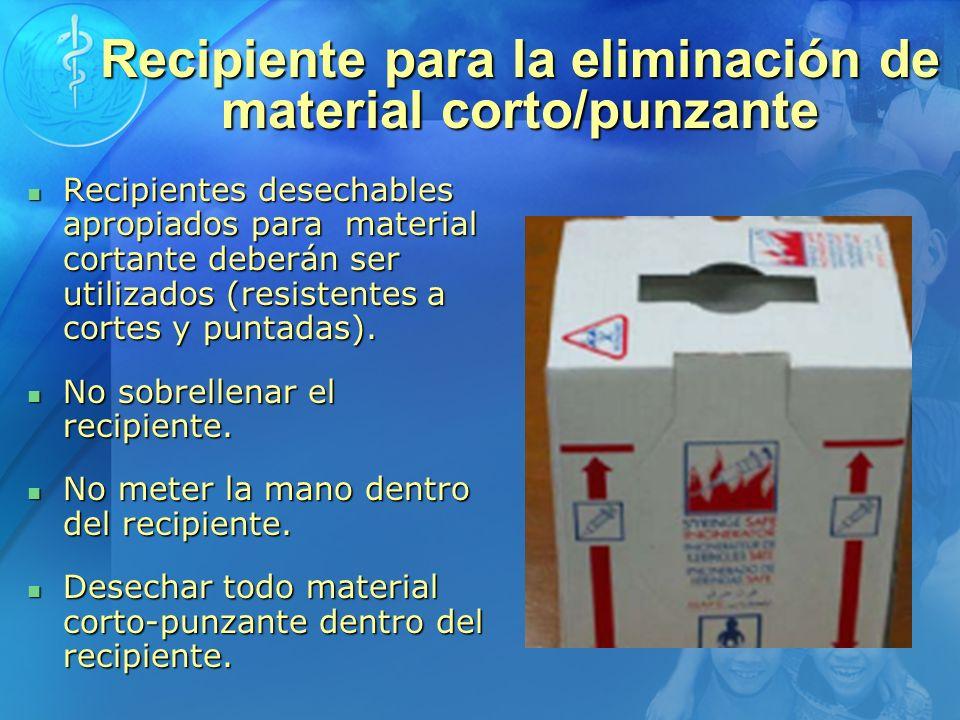 Recipiente para la eliminación de material corto/punzante