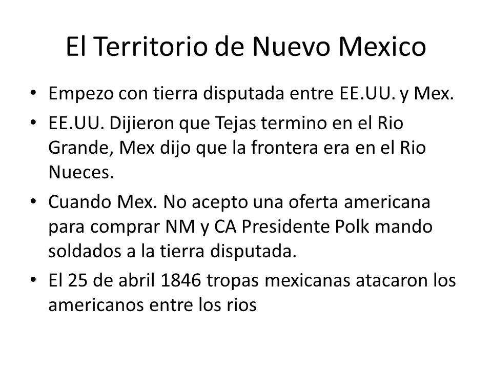 El Territorio de Nuevo Mexico