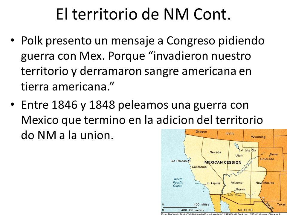 El territorio de NM Cont.