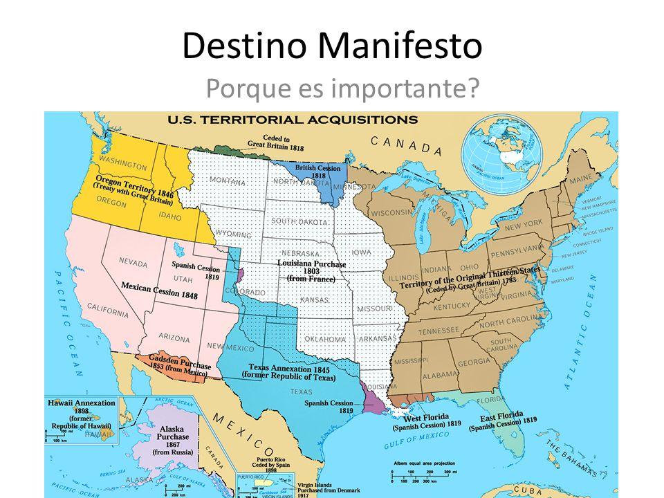 Destino Manifesto Porque es importante