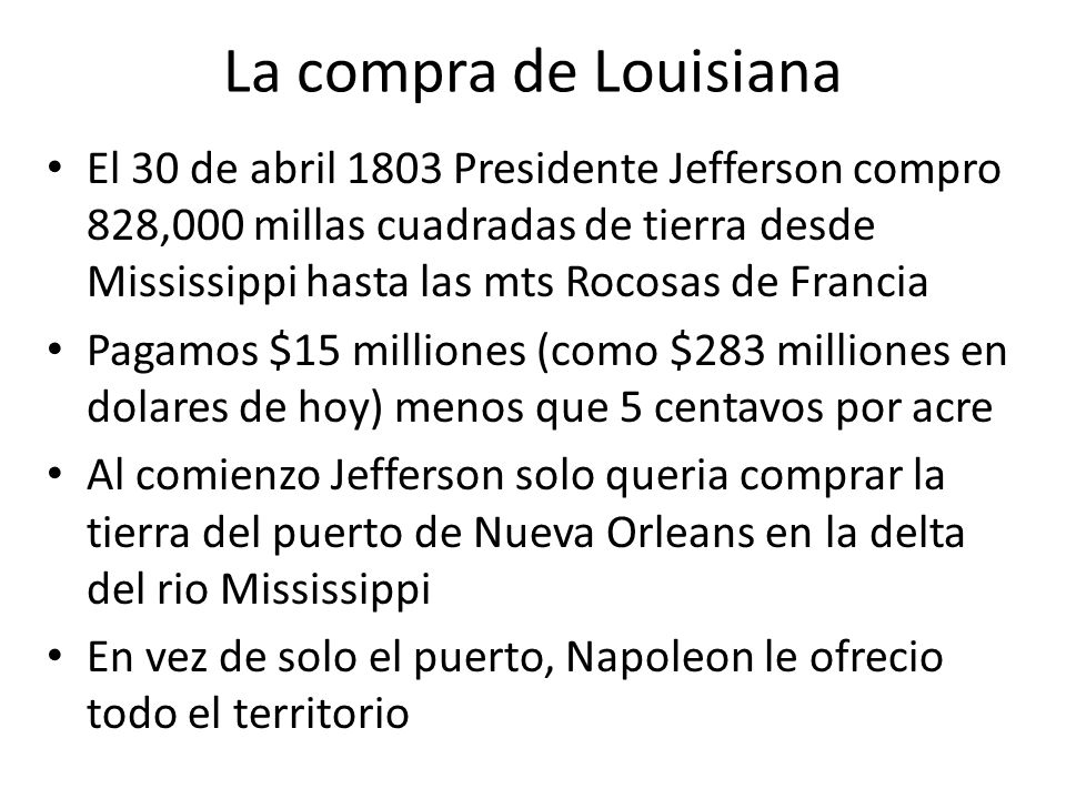 La compra de Louisiana
