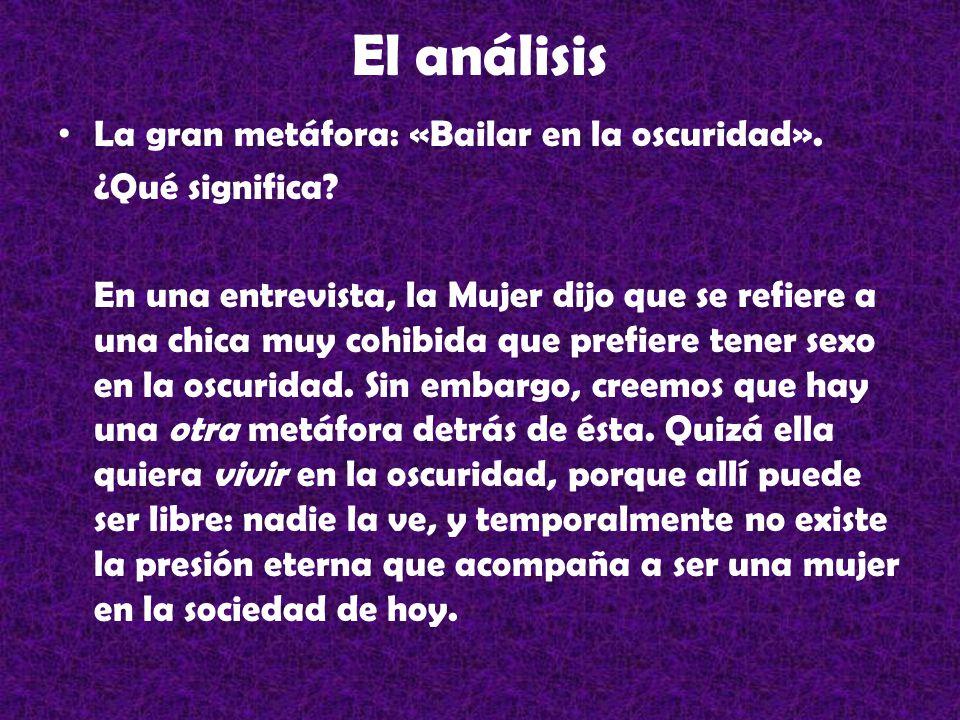 El análisis La gran metáfora: «Bailar en la oscuridad».