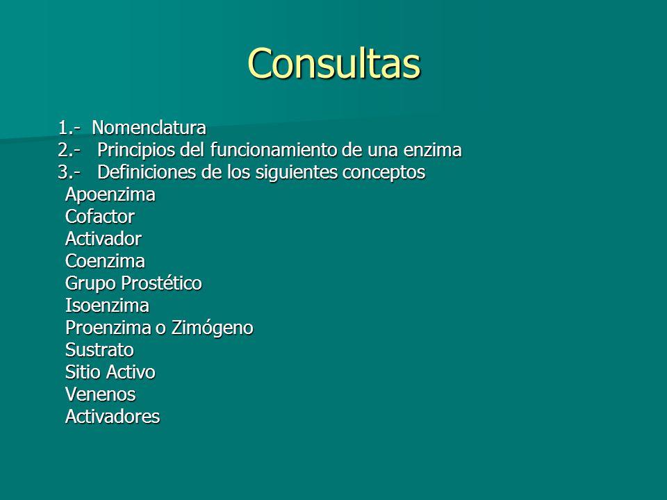 Consultas 1.- Nomenclatura